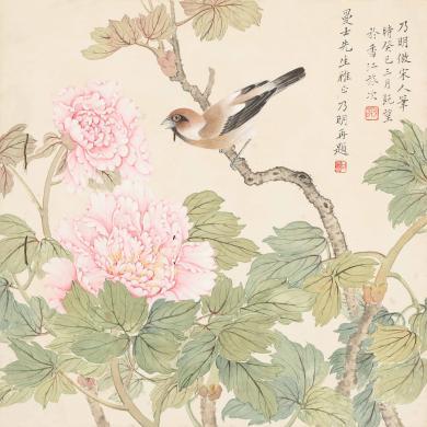 甘乃明 牡丹小鸟